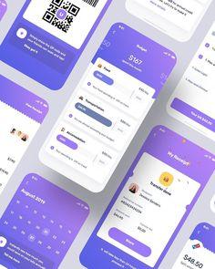 Uluwatu Financial UI Kit... Web Design, App Ui Design, Mobile App Design, Financial Apps, Html Css, Mobile App Ui, Ui Kit, Finance, Design Web