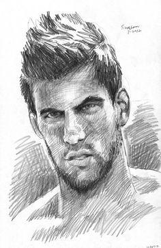 pencil sketch by douglas simonson, 2012