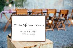 Printable Digital File Custom calligraphic Wedding Wedding Welcome Sign Elegant Welcome Poster Wedding Welcome Print HQ300dpi by DreamPrintable on Etsy