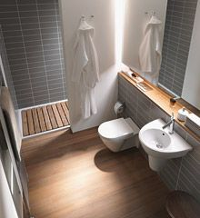 small bathroom.