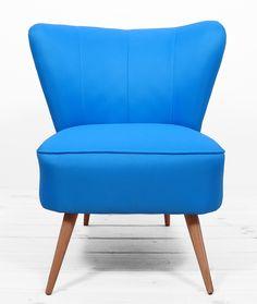 fotel klubowy warm blue