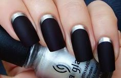 Black Nail art designs14