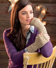Yorkshire Morning Mitts - Free Knitting Pattern  for Cute Fingerless Gloves