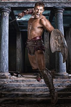 'Spartacus: Vengeance' Who's Who: Meet Season Players Spartacus Tv Series, Spartacus Seasons, Spartacus Blood And Sand, Spartacus Quotes, Liam Mcintyre, Gods Of The Arena, Action Poses, Roman Empire, Pink
