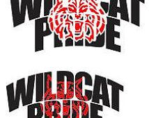 Wildcat Pride SVG DXF eps png cdr SCAL Silhouette Cricut Graphtec ...