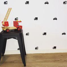 Mini Movers Removable vinyl wall decals. Interior design • kids rooms • nursery • girls rooms • boys rooms Removable Vinyl Wall Decals, Girl Nursery, Kids Rooms, Girl Room, Office Desk, Boys, Girls, Interior Design, Mini