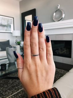 Navy blue coffin nails nails в 2019 г. blue coffin nails, na Navy Acrylic Nails, Navy Blue Nails, Blue Coffin Nails, Black Nails, Witchy Nails, Blue Nail Designs, Prom Nails, Nagel Gel, Perfect Nails