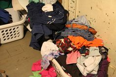the complaining experiment part 2:  I failed at the complaining experiment totally and completely. By the time Sunday afternoon rolled around I ended up in a crying heap on the laundry room floor, sobbing about how many loads of laundry I had to finish and how many crayon wrappers were all over the house, and how I will NEVER be done...