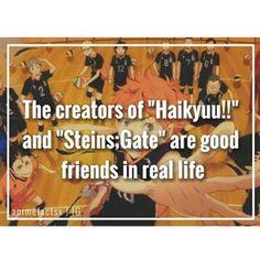 This makes me happy FRIENDSHIP GOALS - Anime : Haikyuu!! | Steins;Gate - [#haikyuu #steinsgate #anime #manga #otaku #animefact #animefacts]
