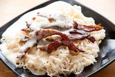 食譜 芝士豬頸肉撈丁 Dry Noodle with Pork Jowl and Cheese Sauce Recipe