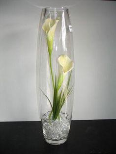 Deluxe Tall Glass Flower Vases