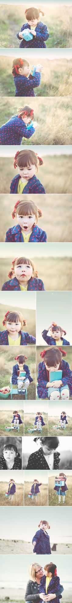 children photography - little girl - expressions