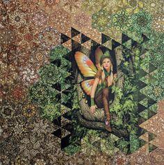 Batik Quilts, Panel Quilts, Quilt Blocks, Quilting Projects, Quilting Designs, Beyond The Border, One Block Wonder, Millefiori Quilts, Kaleidoscope Quilt