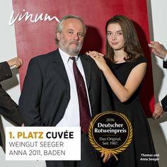 #DeutscherRotweinpreis 1. Platz Cuvées: AnnA Baden 2011, Weingut Seeger, Leimen #Rotweinpreis #Deutscherwein