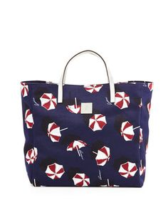 Girls Parasol-Print Tote Bag, Blue by Gucci at Neiman Marcus.