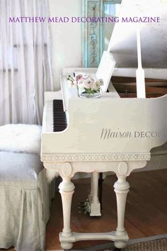 Painted in Old White with Clear Wax by Annie Sloan. by Amy Chalmers of Maison Decor