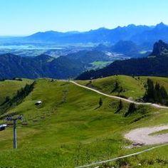 Bayern, Allgäu - Pfronten - Hochalpbahn auf dem Breitenberg, Richtung Füssen