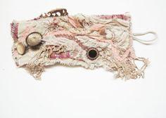Jewelry French Cuff Handmade Vintage Fabric Cuff by Atelierinparis, $90.00