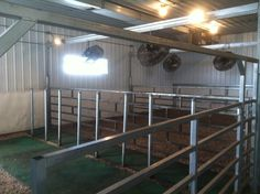 show cattle barns | DIAMOND G CATTLE CO.: I want this only smaller scale! One pen with fans and head ties!!! My kids will be spoiled