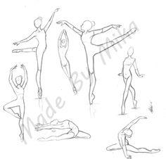 schizzi di ballerine di danza classica