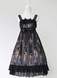 Classic *Byzantine Color Window* Printed JSK Lolita Dresses
