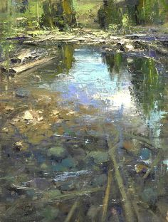 "Summer Reflection by Mike Wise Oil ~ 16"" x 12"""