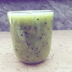Green smoothies .Sedano ,kiwi ,finocchio ovviamente sugarfree