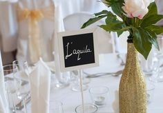 9 x Chalkboard table name/number holders