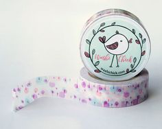 Pastel Pink Washi Tape - Purple, Blue, and Pink Washi Tape, 1 roll, 15mm x 10m, soft color, deco tape, pretty scrapbook tape