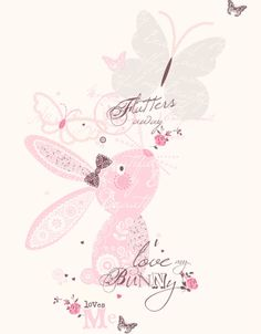 "Wendy Burns: ""I love my bunny loves me"" bunny illustration"