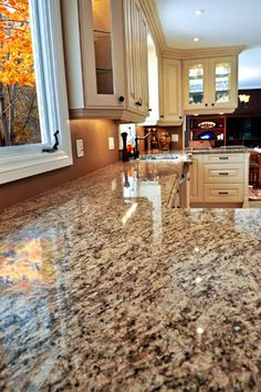 Traditional Antique White Kitchen Cabinets (Kitchen-Design-Id…) - granite countertops White Kitchen Cabinets, Kitchen Redo, Kitchen Countertops, New Kitchen, Kitchen Ideas, Sealing Granite Countertops, Kitchen Granite Countertops, Cleaning Granite, Granite Cleaner