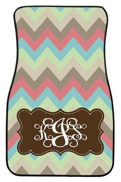 Car Mats Gift Ideas Car Accessories Monogrammed by ChicMonogram, $75.00