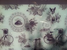Themed toile for a Piet Boon designed condo in Williamsburg, the Oosten.