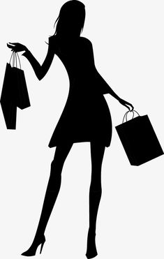 Fashion shopping Girls silhouette Frei PNG und Vektor You are in the right place about black girl fa Fashion Silhouette, Silhouette Clip Art, Girl Silhouette, Silhouette Design, Shopping Day, Girls Shopping, Anniversary Crafts, Cartoon Girl Images, Black Girl Fashion