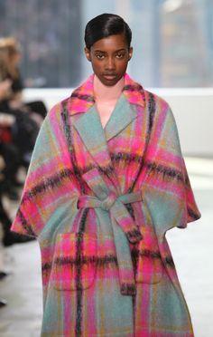 Delpozo F/W 2015 Moroccan Oil, Delpozo, Top Knot, Plaid Scarf, Tartan, Couture, Tweed, Stylists, Saree