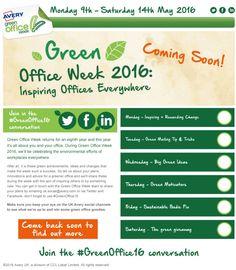 Green Office Week Home | Avery