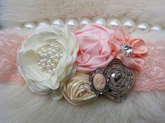Peach Headband/Baby Headbands/Baby Headbands and Bows/Infant Headbands/Baby Girl Headbands/Girl Headband Baby/Toddler Headbands by OohLaLaDivasandDudes on Etsy