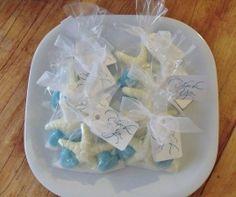 starfish chocolate wedding favors | Wedding Favor Chocolate Treat Bag - Starfish and Hearts - Sugar Sand ...