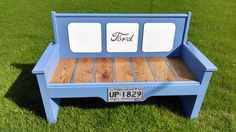 Ford tailgate bench built by Kyle Grove Gladwin, Michigan.