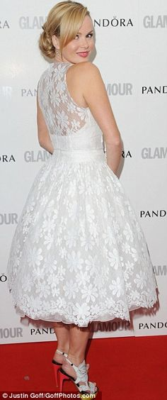 White lace featured on the red carpet at the Glamour Women Of The Year Awards in London this week. What do you think of this look from Amanda Holden?