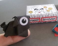 """Figure out even more information on """"black pugs"""". Check out our internet site. The Pug, Origami Dog, Fawn Pug, Black Pug, Pug Puppies, Cute Pugs, Magnets, Happy Birthday, Etsy"""