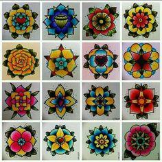 Old school flower designs