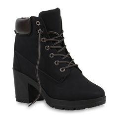 0f057cabec10dd Damen Worker Boots Profil Sohle Block Absatz Stiefeletten 811964 Jordans  Schuhe Damen