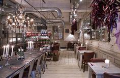Wall of Mirrors. #restaurant #interior