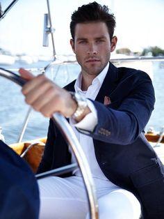 Auf der Yacht - Chad Masters - My Style - dapper men's wear - Men Costume En Lin, Costume Sexy, Gentleman Mode, Gentleman Style, Look Fashion, Trendy Fashion, Mens Fashion, Fashion Clothes, Fashion Ideas