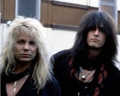 Nikki and Vince Motley Crue Nikki Sixx, 1980s Bands, Vince Neil, Fantasy Art Men, Star Wars, Band Pictures, Glam Rock, Music Stuff, Heavy Metal