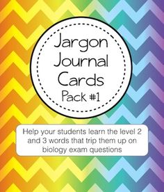 Do you find that your students often know a biology concept but don't understand a crucial word used in the question? These non-science content words are known as jargon. The Jargon covered in this pack are the following words: Alter, Characteristic, Concentration, Consumption, Directly, Eliminate, Engulf, Function, Inhibit, Molecule, Primary, Process, Product, Raw Materials, Recipient, Regulate, Relative, Stimulate, Structure, Substance.