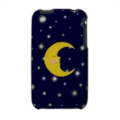 Moon Lit Nite iPhone Case by SayItNow