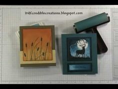 Stampin Up Brayered Night Sky Holiday Card - YouTube
