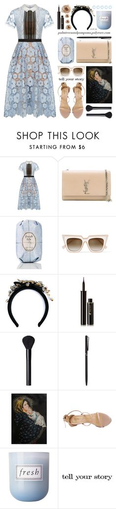"""It's a Shirt! It's a Dress! It's a Shirtdress!"" by palmtreesandpompoms ❤ liked on Polyvore featuring self-portrait, Yves Saint Laurent, Fresh, Dolce&Gabbana, Lancôme, NARS Cosmetics, Tiffany & Co., NOVICA, WithChic and shirtdress"
